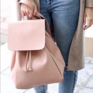 Zara Women Backpack Blush Pink Vegan Leather Bag